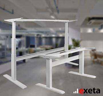 Exeta Elektrisch höhenverstellbarer Schreibtisch (Vers. 2018) mit 2 Motoren, 3-fach-Teleskop,Memory-Funkt. und Softstart/-Stopp, elektrisch höhenverstellbares Tischgestell – für gängige Tischplatten - 3