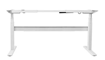 Exeta Elektrisch höhenverstellbarer Schreibtisch (Vers. 2018) mit 2 Motoren, 3-fach-Teleskop,Memory-Funkt. und Softstart/-Stopp, elektrisch höhenverstellbares Tischgestell – für gängige Tischplatten - 4