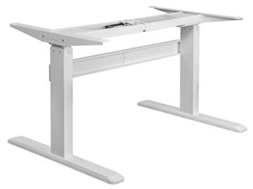 Exeta Elektrisch höhenverstellbarer Schreibtisch (Vers. 2018) mit 2 Motoren, 3-fach-Teleskop,Memory-Funkt. und Softstart/-Stopp, elektrisch höhenverstellbares Tischgestell – für gängige Tischplatten - 1