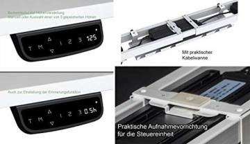 Exeta Elektrisch höhenverstellbarer Schreibtisch (Vers. 2018) mit 2 Motoren, 3-fach-Teleskop,Memory-Funkt. und Softstart/-Stopp, elektrisch höhenverstellbares Tischgestell – für gängige Tischplatten - 5