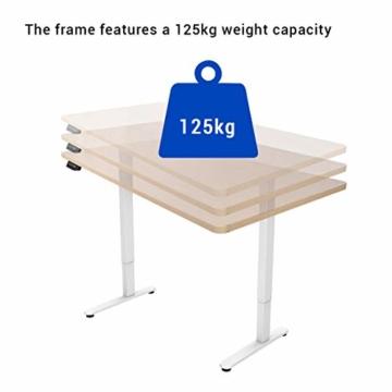 Flexispot E2B Höhenverstellbarer Schreibtisch Elektrisch höhenverstellbares Tischgestell, passt für alle gängigen Tischplatten. Mit Memory-Steuerung und Softstart/-Stop. (Tischgestell-2 Fach Schwarz) - 6