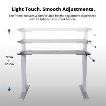 Flexispot H2S Höhenverstellbarer Schreibtisch Kurbelverstellbares Tischgestell, Passt für Alle Gängigen Tischplatten. - 2