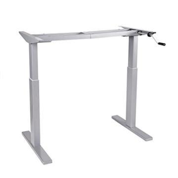 Flexispot H2S Höhenverstellbarer Schreibtisch Kurbelverstellbares Tischgestell, Passt für Alle Gängigen Tischplatten. - 1