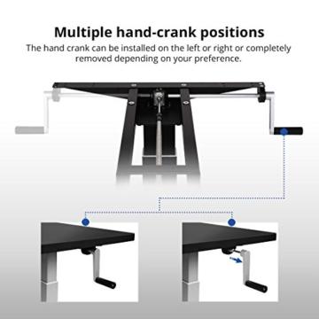 Flexispot H2S Höhenverstellbarer Schreibtisch Kurbelverstellbares Tischgestell, Passt für Alle Gängigen Tischplatten. - 5