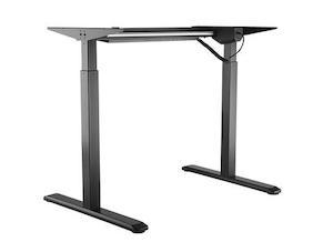 Höhenverstellbarer Schreibtisch nur Gestell in schwarz