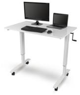 Stand Up Desk Store Höhenverstellbarer Schreibtisch (Rahmen weiß/Hochglanzdeckel weiß, Schreibtisch Länge: 120cm) - 1