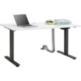 Maja Möbel Schreibtisch »höhenverstellbarer Schreibtisch 9666«, elektrisch höhenverstellbar, 1-Motorengestell mit Parallelführung, STOP CONTROL (Auffahrschutz)